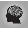 Human brain with gears for your design vector image