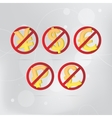 No Money stop sign vector image