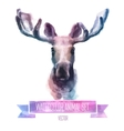 set of watercolor Cute elk vector image