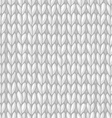 white seamless knitted pattern vector image