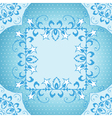 Floral frame in blue vector image