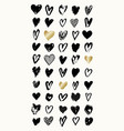 heart shapes collection vector image vector image