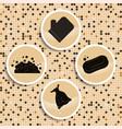 elements of turkish bath massage on mocail wall vector image