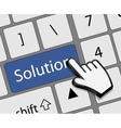 Keyboard solution button with mouse hand cursor vector image vector image