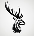 Deer Tattoo Design vector image