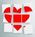 red heart folded cubes vector image vector image