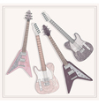 electric and bass guitars set cute guitars vector image vector image