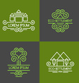 Eco Settlement Logo Set vector image