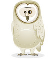 cartoon barn owl character vector image