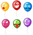 colorful balloons with facial expressions vector image