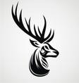 Deer Tattoo Design vector image
