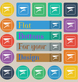 hang-gliding icon sign Set of twenty colored flat vector image
