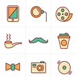 Icons Style Hipster retro vintage elements modern vector image