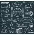 Set of restaurant menu design elements vector image