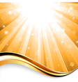 sunbeam background vector image