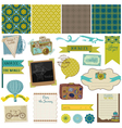Travel Set of design elements vector image