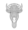Zentangle stylized bull head vector image