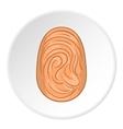Fingerprint icon flat style vector image