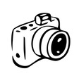 photo camera drawing vector image vector image