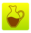 amphora sign  brown icon at green-yellow vector image