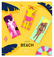 poster summer beach vector image