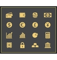 Financal icons set vector image