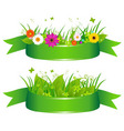 eco ribbons vector image