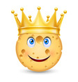 Golden crown on cheese vector image vector image