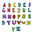 comic cartoon alphabet vector image