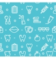Dental Tooth Clinic Background Pattern vector image