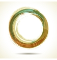 Brown and green vintage themed watercolor ring vector image