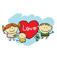 Cute cartoon kids vector image vector image