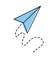 airplane paper flying icon vector image