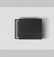 black empty box mock up on transparent background vector image