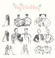 drawn gay couples invitation menu card vector image