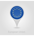 European Union flag pin map icon vector image