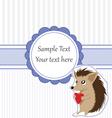 Hedgehog card vector image