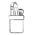 Pencil holders with sharpeneer vector image