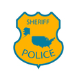 Sheriff police badge vector image