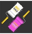 Sale Labels Roller Brush Set vector image vector image