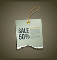 Vintage Label Ripped paper sale vector image