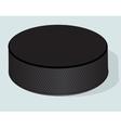Hockey puck realistic vector image
