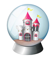 A palace inside a dome vector image vector image