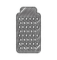 kitchen grater isolated icon vector image vector image