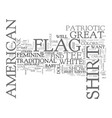 american flag history text word cloud concept vector image