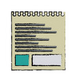 torn sheet of paper note office vector image