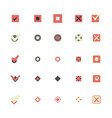 colorful icons that shows marking choice vector image
