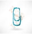 clip grunge icon vector image