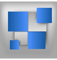 business squares light blue vector image vector image