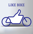 Like Bike vector image